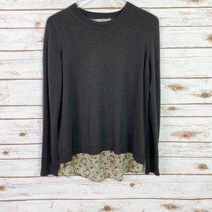 Dalia gray layered look sweater size large